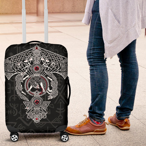 1stIceland Viking Luggage Covers, Fenrir Skoll And Hati Valknut Raven TH00 - 1st Iceland
