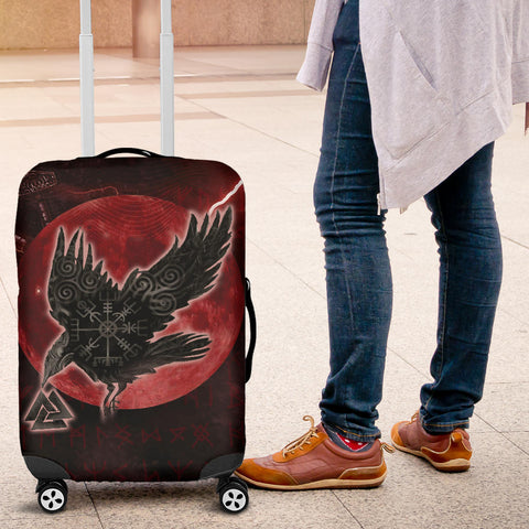 1stIceland Viking Luggage Covers, Raven Helm Of Awe Valknut Mjolnir Rune TH70 - 1st Iceland