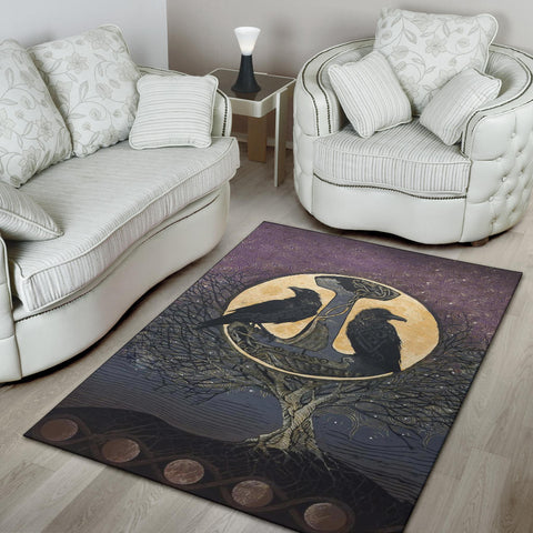 1stIceland Viking Area Rug, Raven And Tree Of Life K5 - 1st Iceland