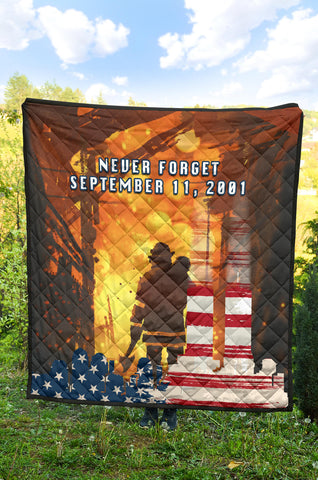 1stIceland American Firefighters Premium Quilt 9.11.01 Never Forget K8 - 1st Iceland
