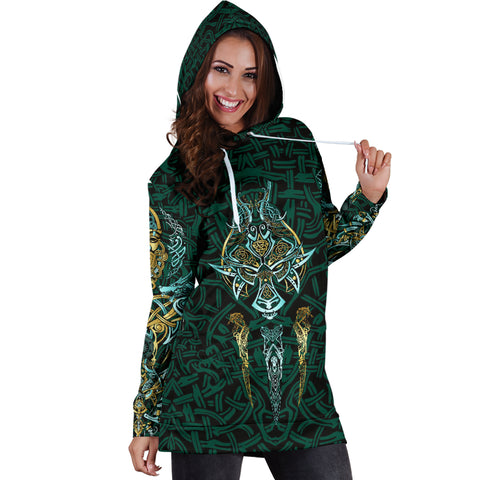 1stIceland Viking Hoodie Dress, Fenrir The Vikings Wolves Th00 - 1st Iceland