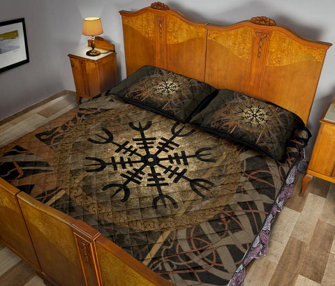Image of 1stIceland Viking Quilt Bed Set, Helm of Awe K5 - 1st Iceland