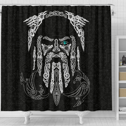 1stIceland Viking Shower Curtain, Odin's Eye with Raven K4 - 1st Iceland