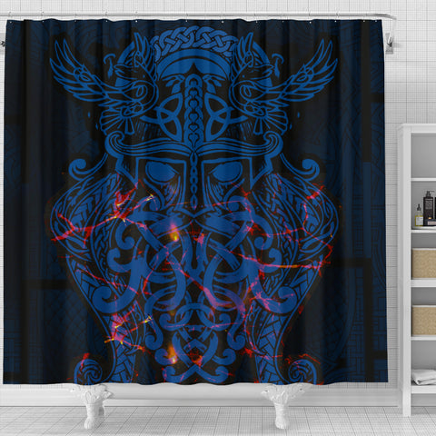 Vikings Shower Curtain, Odin The All Father Th00 - 1st Iceland