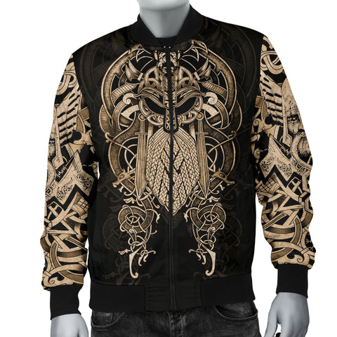 Image of 1stIceland Viking Bomber Jacket, Odin Nordic Mythology Mjolnir  K4 - 1st Iceland