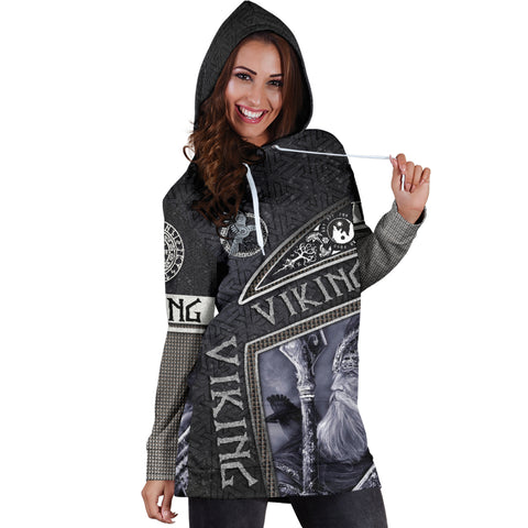 1st Iceland Viking God Metal Women's Hoodie Dress TH12 - 1st Iceland