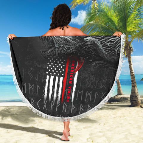 1stIceland American Viking Fenrir Beach Blanket TH12 - 1st Iceland