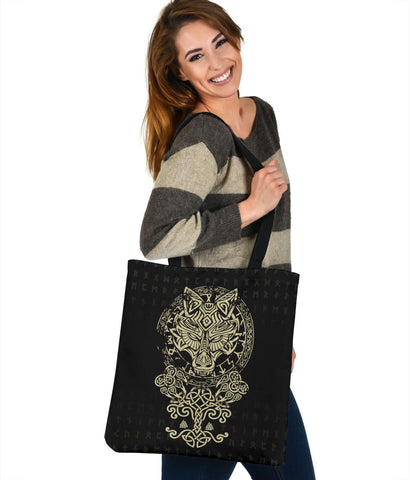 Image of 1stIceland Viking Wolf Fenrir Tote Bag TH12 - 1st Iceland