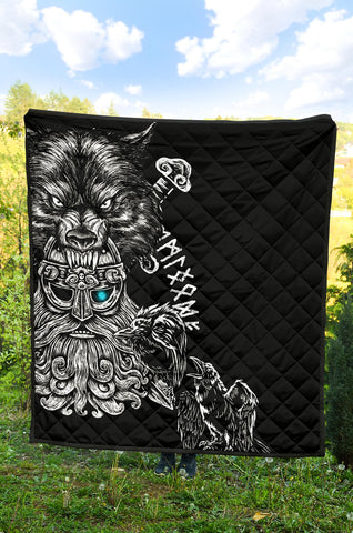 Image of 1stIceland Odin Viking Tattoo Premium Quilt TH12 - 1st Iceland