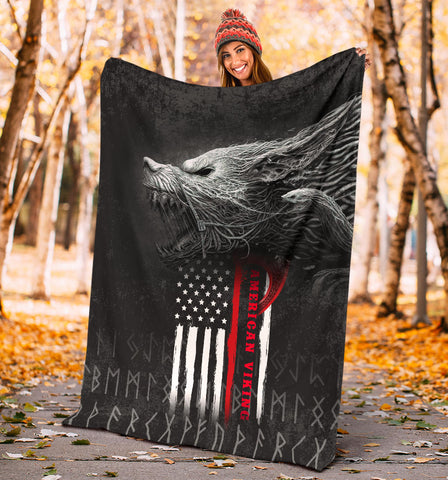 Image of 1stIceland American Viking Fenrir Premium Blanket TH12 - 1st Iceland
