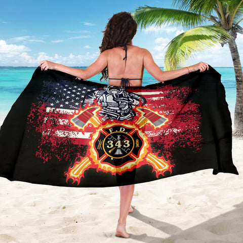 1stIceland American Firefighters Sarong 9.11.01 Memorial K8 - 1st Iceland