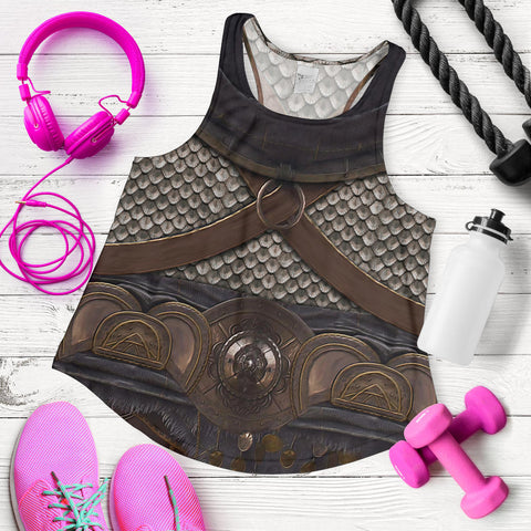 1stIceland Women Racerback Tank, 3D Assassin Creed Odyssey Armour - 1st Iceland