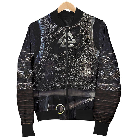 1stIceland Vikings Bomber Jacket, Valknut 3D Viking Armour Women TH00 - 1st Iceland