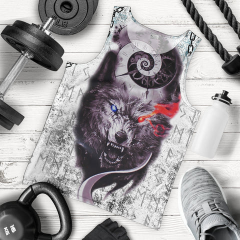 1stIceland Gray Wolf Tattoo Men's Tank Top TH12 - 1st Iceland