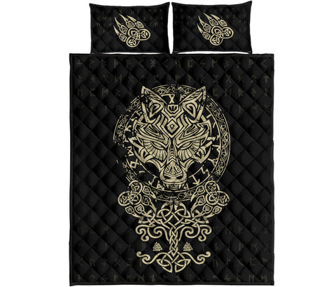 Image of 1stIceland Viking Wolf Fenrir Quilt Bed Set TH12 - 1st Iceland
