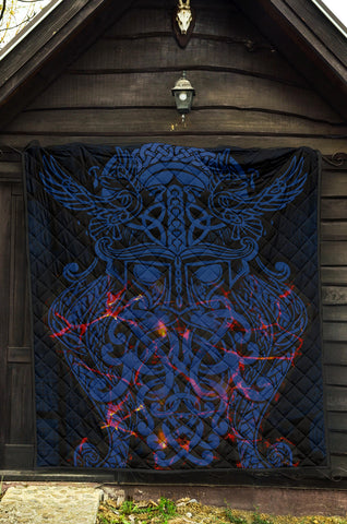 Image of Vikings Premium Quilt, Odin The All Father Th00 - 1st Iceland