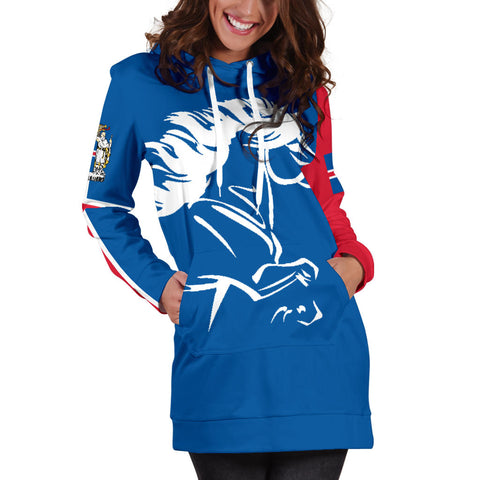 1stIceland Hoodie Dress, Icelandic Horse FLag Coat Of Arms K4 - 1st Iceland