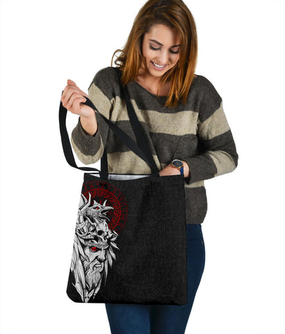 1stIceland Viking Odin And Raven Tote Bag TH12