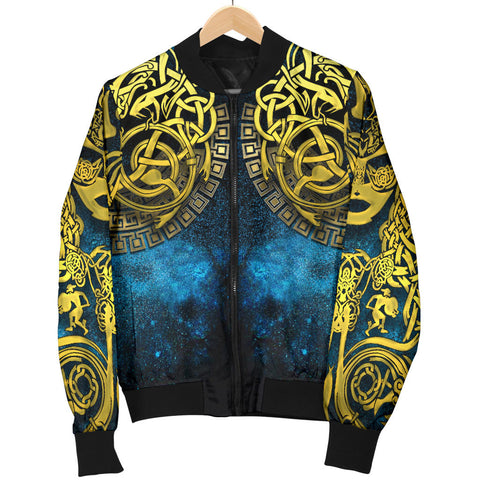 1stIceland Celtic Men's Bomber Jacket, Celtic Knot Tattoo All Over Design - 1st Iceland