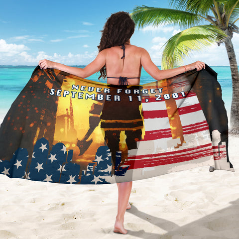1stIceland American Firefighters Sarong 9.11.01 Never Forget K8 - 1st Iceland