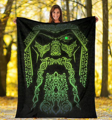 1stIceland Viking Premium Blanket Hugin and Munin - Odin's Eye Myth TH5 - 1st Iceland