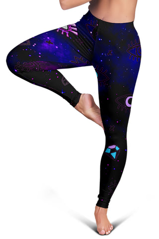 (Custom Personalised) 1stIceland Evil Eye Women Leggings Simple Style - Black K8 - 1st Iceland