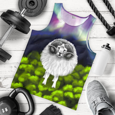 1stIceland Men's Tank Top, Icelandic Sheep Aurora K4 - 1st Iceland