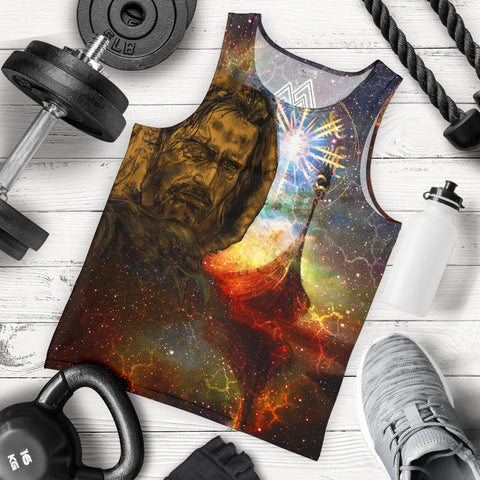 1stIceland Viking Ship Men Tank Top, Vegvisir Odin K13 - 1st Iceland