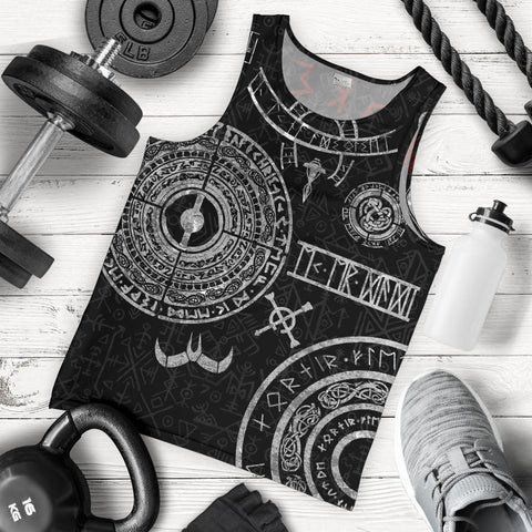 1stIceland Viking Men Tank Top, Baldur Norse Mythology Tattoo K4 - 1st Iceland