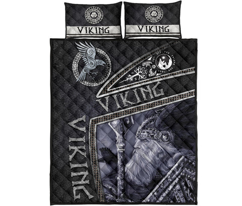 1st Iceland Viking God Metal Quilt Bed Set TH12