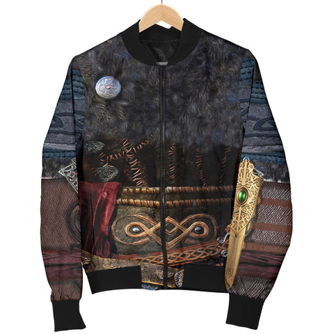 1stIceland Viking Armor Valhalla Bomber Jacket For Men K4 - 1st Iceland