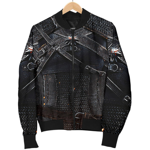 1stIceland Bomber Jacket for Women, 3D Witcher Armor All Over Print - TH00 - 1st Iceland