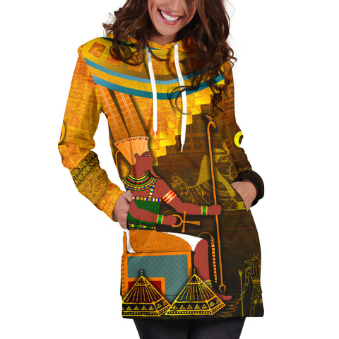 1stIceland Amun Women Hoodie Dress Egyptian God K8 - 1st Iceland