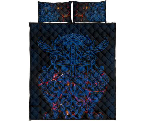 Image of Vikings Quilt Bed Set, Odin The All Father Th00 - 1st Iceland