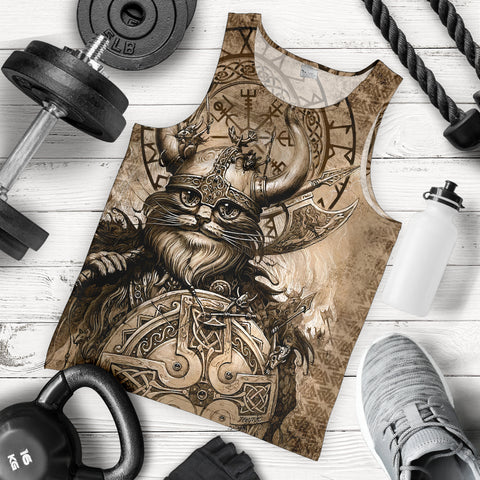 1stIceland Viking Men's Tank Top Classic Cat Version TH12 - 1st Iceland