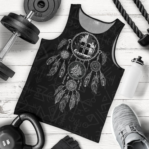 1stIceland Viking Men's Tank Top, Dreamcatcher Iceland Coat Of Arms K4 - 1st Iceland