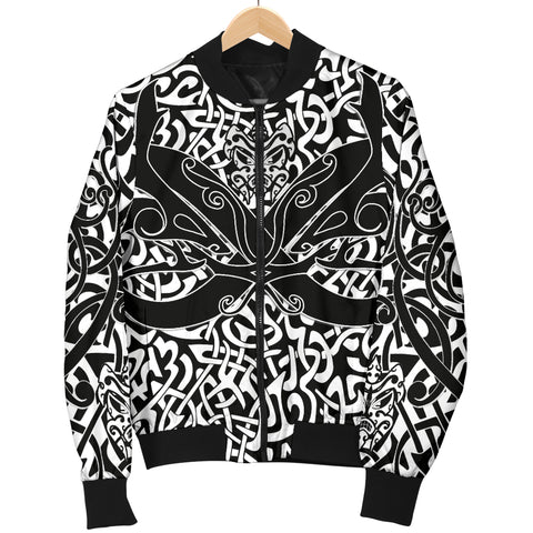1stIceland Celtic Bomber Jacket for Women, Celtics Dragon Tattoo Th00 - Green 1stIceland Celtic Bomber Jacket for Women, Celtics Dragon Tattoo Th00 - White - 1st Iceland