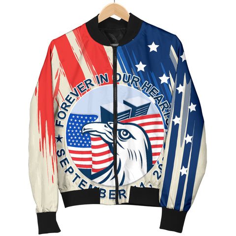 1stIceland American Firefighters Sacrifice 9.11.01 Women Bomber Jacket K8 - 1st Iceland
