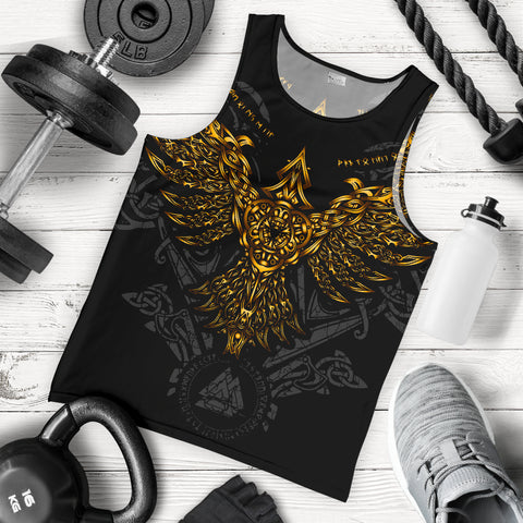 1stIceland Viking Huginn Gold Men's Tank Top TH12 - 1st Iceland