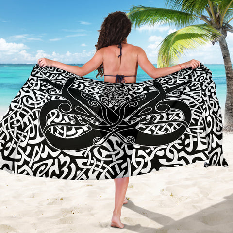 1stIceland Celtic Sarong, Celtics Dragon Tattoo Th00 - White - 1st Iceland