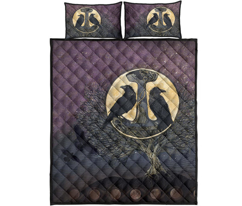 1stIceland Viking Quilt Bed Set, Raven And Tree Of Life K5 - 1st Iceland
