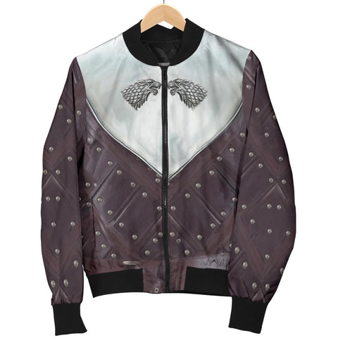 Image of 1sticeland Bomber Jacket for Women, 3D Arya Stark Armor All Over Print - 1st Iceland