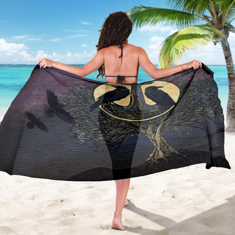 1stIceland Viking Sarong, Raven And Tree Of Life K5 - 1st Iceland