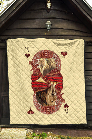 Image of 1st Iceland King Hearts Lion Poker Premium Quilt TH12 - 1st Iceland