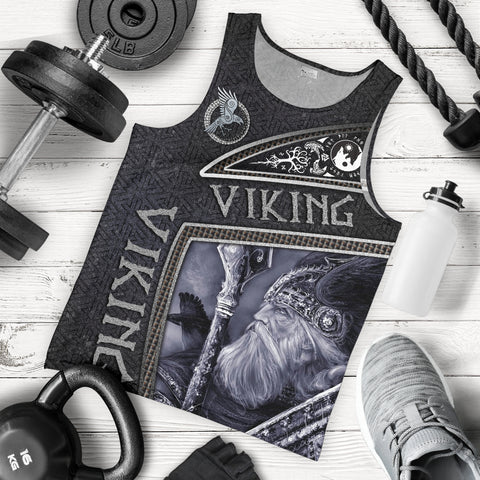 1stIceland Viking God Metal Men's Tank Top TH12 - 1st Iceland