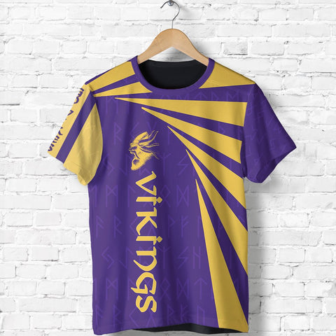 1stIceland Viking T-Shirt, Minnesota Vikings Football Runes TH72 - 1st Iceland