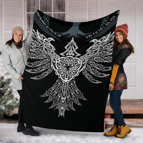 1stIceland Viking Premium Blanket, Raven Th00 - 1st Iceland