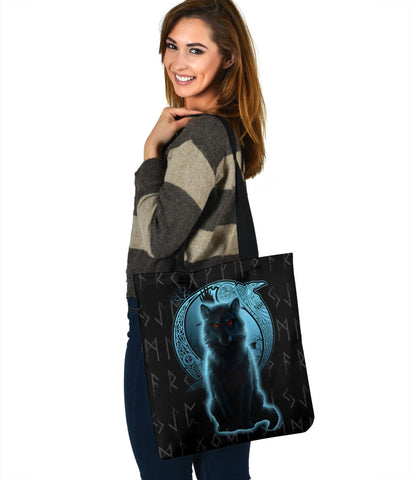 1stIceland Fenrir Viking Wolf And Moon Tote Bag TH12 - 1st Iceland