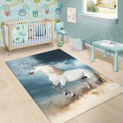 Image of Spanish Horse Area Rug Andalusian Horse In The Dust K13 - 1st Iceland