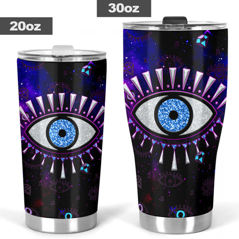 1stIceland Evil Eye Tumbler Simple Style - Black K8 - 1st Iceland